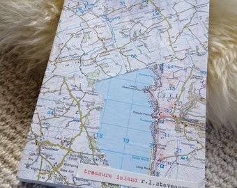 Rebound paperback copy of Treasure Island