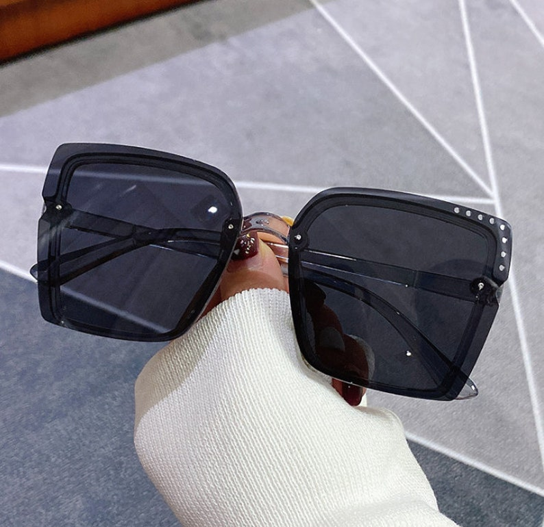 color gradient sunglasses square rimless sunglasses Beach glasses