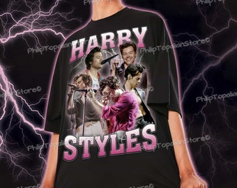 Harry Styles Retro Shirt, Harry Styles Shirt Gift, 90s Vintage Bootleg Shirt, Bootleg Shirt Design, Harry Styles Bootleg Tee