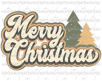 Merry Christmas retro Png, Christmas Sublimation png Design, Christmas vintage png, Happy Christmas png