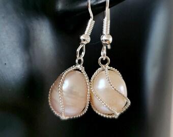 Caged Pearl Earrings
