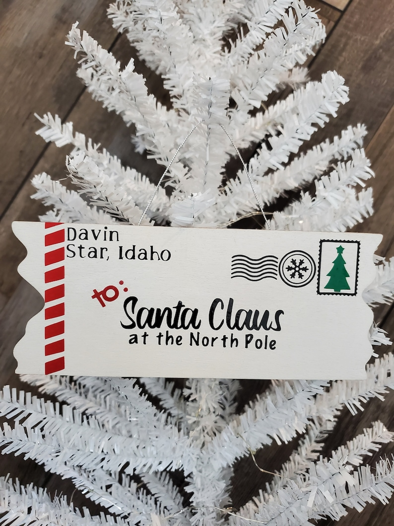 Personalized Letter to Santa ornament
