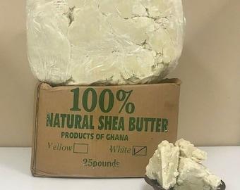 100% Raw African SHEA BUTTER - Unrefined Shea, Organic, Natural Shea - Body butter, Ivory color