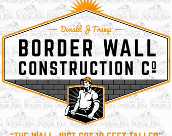 Hell Open Borders Bumper Sticker Immigration Patrol Trump Heaven Has a Wall
