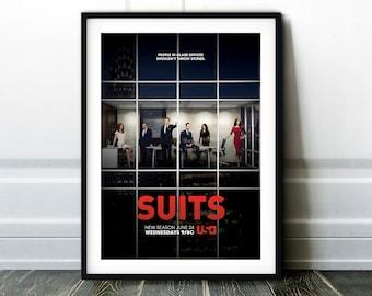 TV Series Poster Print A3 A4 A5 2011 SUITS Home Decor//Wall Art