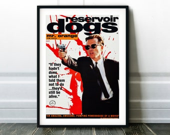Reservoir Dogs Greatest Movie Poster Classic Vintage 300gsm Card Print A4 A3