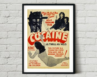 Movie Prop Replica Drugs Art Funny Photo Props Blank Greeting Card with Envelope Frameable Wall Art Cocaine Postcard Coke