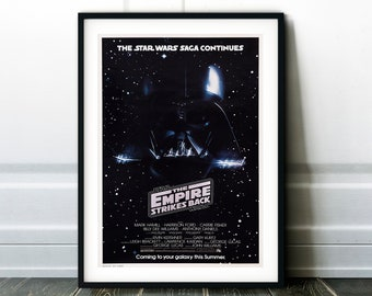 Star Wars Episode V - The Empire Strikes Back Movie Poster - Classic 80's Vintage Wall Film Art Print Photo