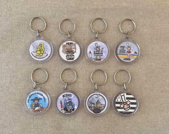 QUEEN AMANN humorous accessory keyring