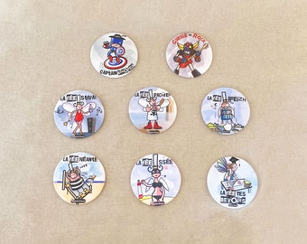 CORK coasters QUEEN AMANN round selection 1 fairies and superheroes