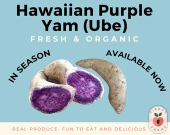 Fresh Hawaiian Purple Sweet Potatoes Ube Yam / FAST SHIPPING