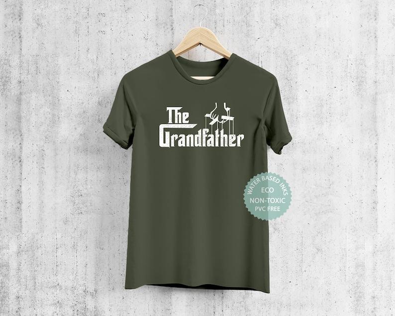 New Granpa Husband The Grandfather T Shirt Gift For Grandad Premium Eco-friendly Tee Funny Gangster Grand Dad Tshirt Present For Grandpa