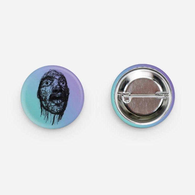 Blue Man Button image 0