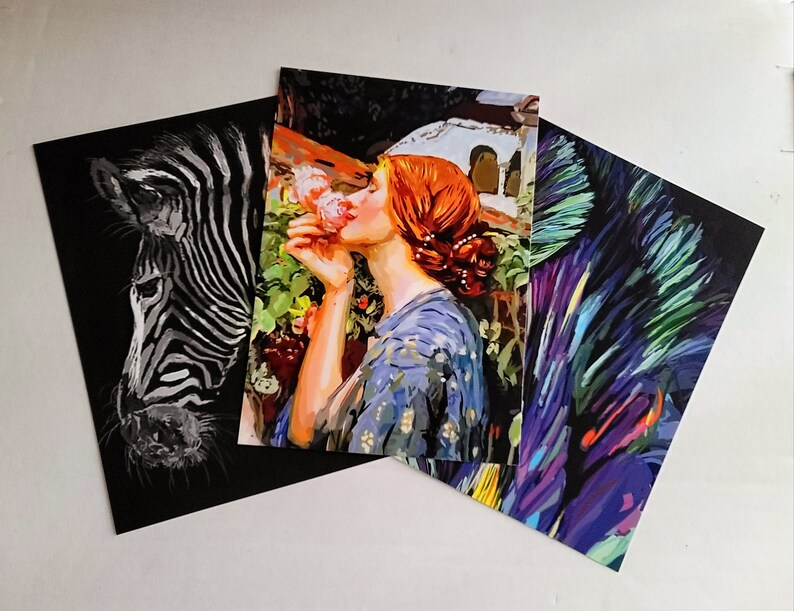 3 Virtual Reality Art Postcards image 0