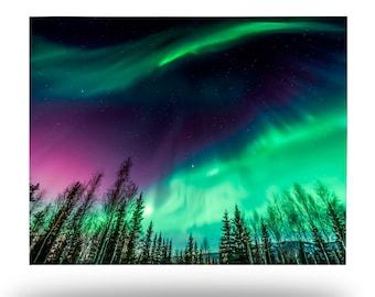 Natures Light Show Metal Print, Northern Lights Aluminum Wall Art