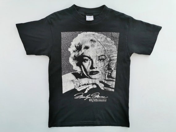 vintage Marilyn monroe famous actress large mens t-shirt
