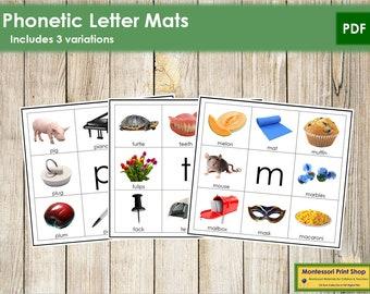 Phonetic Letter Mats - Montessori Language - Printable Montessori Materials - Digital Download