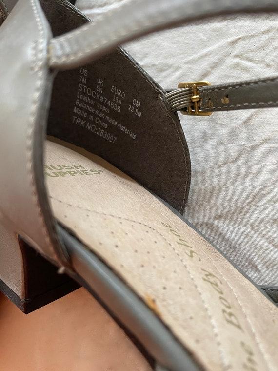 VTG 90s Gray Sling Back MULES - image 6