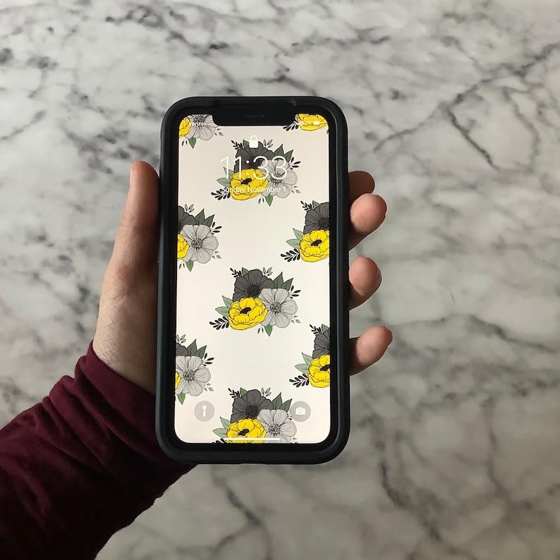 Phone Wallpaper Floral Instant Download