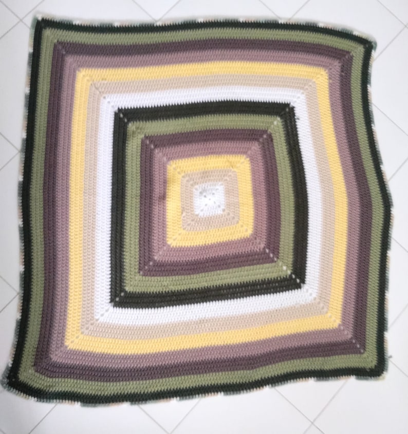 The solid granny square blanket pattern image 1