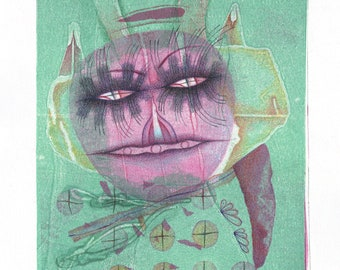 Guardian Spirit – Original mixed media drawing