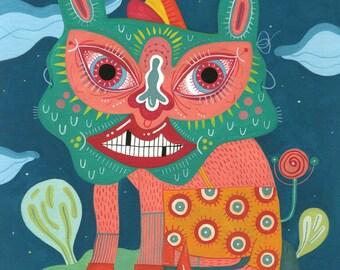 Spirit Animal – Original gouache drawing