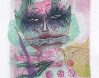 Guardian – Original mixed media drawing