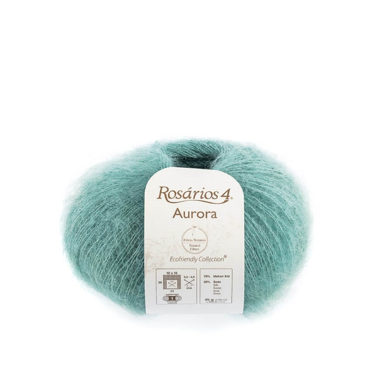 Knittig yarn Lace yarn Rosarios4 Aurora Mohair Silk yarn superkid mohair Mohair yarn