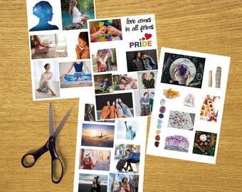 Vision Board Printables *Personal Pack* / Law of Attraction / Manifestation / Manifest More / LoA / Best Life / Dream Life / Visualize