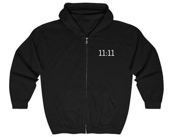 11:11 Hoodie / Manifestor / Angel Numbers / Manifest / Numerology / Law of Attraction / Universal Flow / Magic Hour / Manifestation Apparel