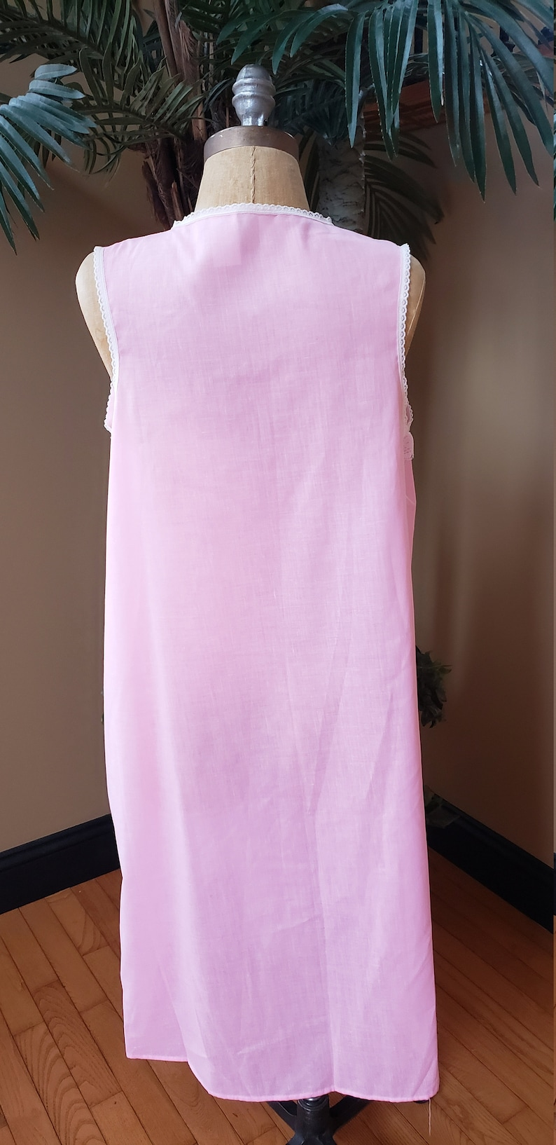 Vintage 70/'s Mistra Sleeveless PInk NIghtgown Gown /_Flowy Baby Doll Lingerie/_Fit Womens Small Medium Large S M L/_Romantic Feminine 3