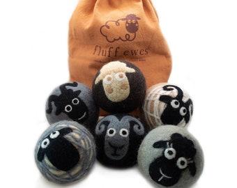 Eco-Friendly Fluff Ewes 100% Premium Sheep Wool Dryer Balls Extra Large Reusable & Natural Handmade