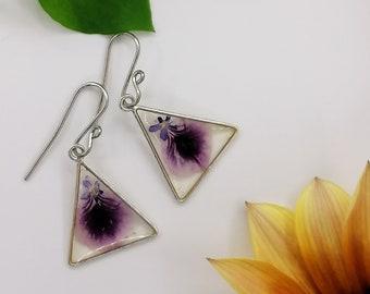 Hypoallergenic earrings with real flowersearringsflower earringsgift ideadangling earringshypoallergenic earrings