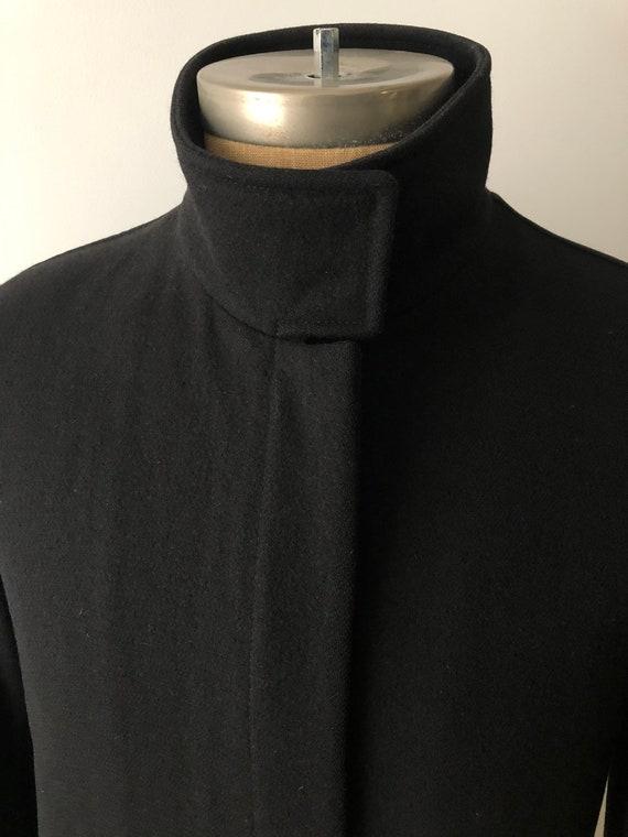 Vintage 90's Prada Men's 100% Wool Coat Black