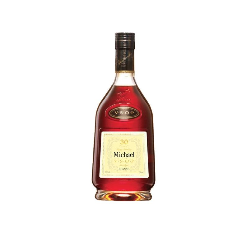 Liquor Labels Personalized Cognac Label Hennessy VSOP Label Birthday Custom Label Personalized VSOP Cognac Label