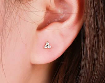 stud earrings-silver floral earrings-climber botanical earrings-buds earrings Suspender earrings climbers earrings flowers