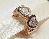 Pandora, Bracelet Charms, Beads, SPACERS, New s925 Sterling Silver Metallic Rose Gold Space in My Heart Spacer Bead Threaded Stamp