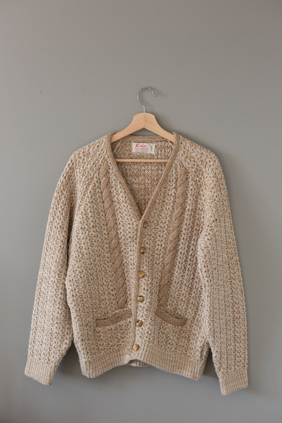 Vintage Cable Knit Cardigan Sweater | Vintage 1960