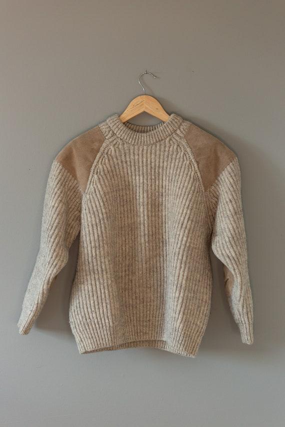 Wool Ribbed Crewneck Sweater | English Wool Sweate