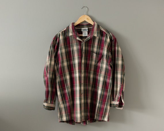 Vintage Plaid Shirt | Northern Reflections Button