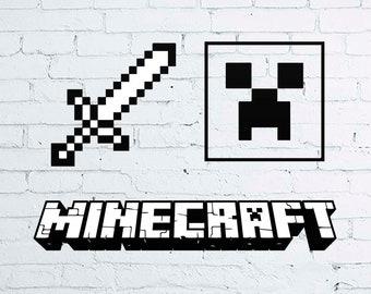 Minecraft Svg File For Cricut Etsy