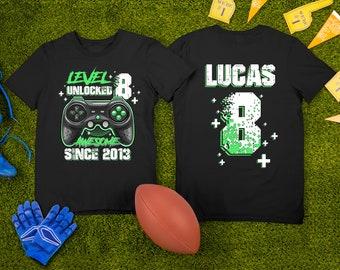Level Unlocked Gamer Birthday Boy shirt,Gamer Birthday Shirt,Video Game Birthday Party Shirt,Gamer Toddler shirt,Personalized Birthday Shirt