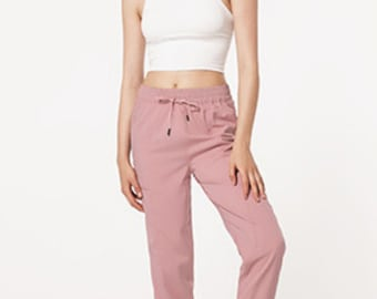Jogger Crop PeachJoy Travelcommute Trousers Yoga Pants Women Pockets Pants Ankle Tie Pants With Pockets