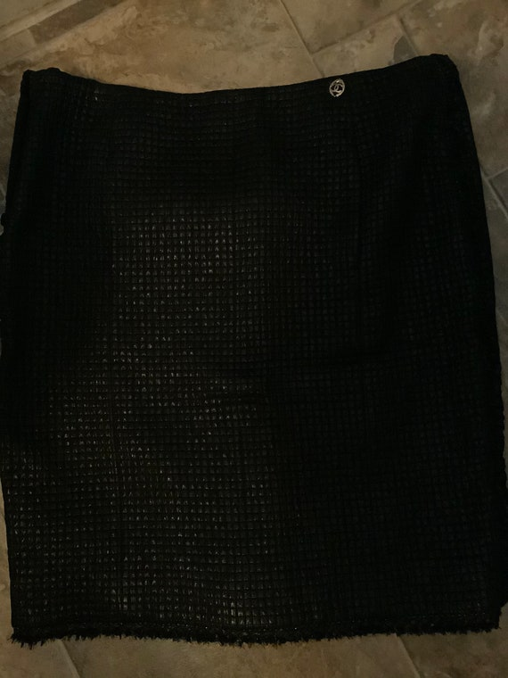 Chanel quilted metallic skirt - image 2