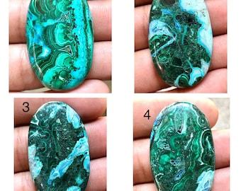Azurite Malachite Arrowhead Shaped Cabochon LS2 Azurite Loose Cabs Azurite Malachite Loose Gemstone
