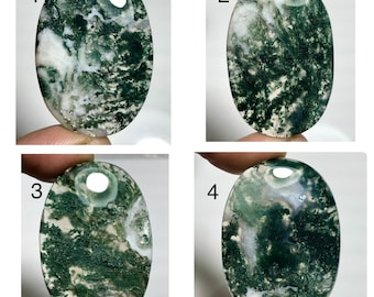 Unique Moss Agate Oval Shape Cabochon,Moss Agate Cabochon For Jewelry Making,,45x21x6 mm,,DG-2637