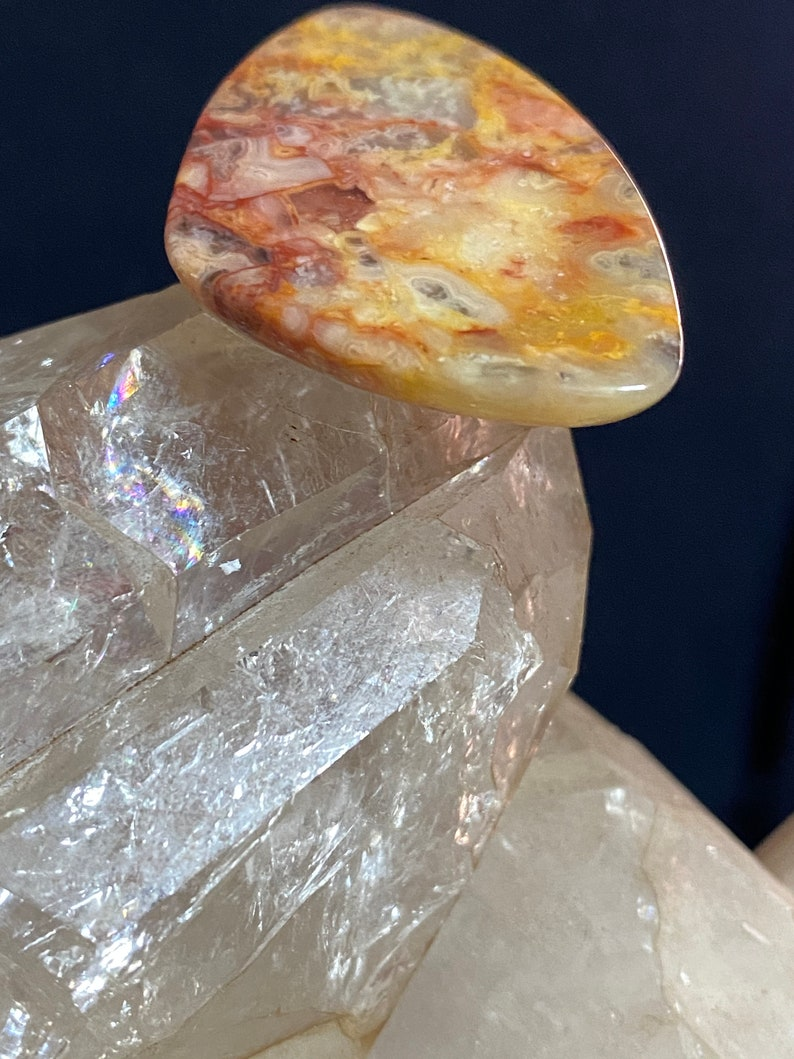 Beautiful Agate Gemstone Cabochon with Flat Back Loose Stone USA Crafted Jewelry Making Perfect Wire Wrapping Stone