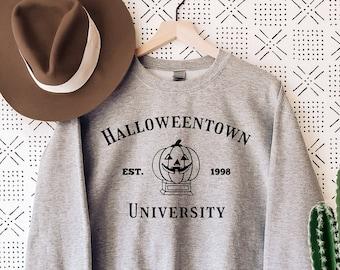 Halloween Town Sweatshirt, Est Town University, Halloween Sweater, Fall Sweatshirt, Pumpkin Halloween Sweat