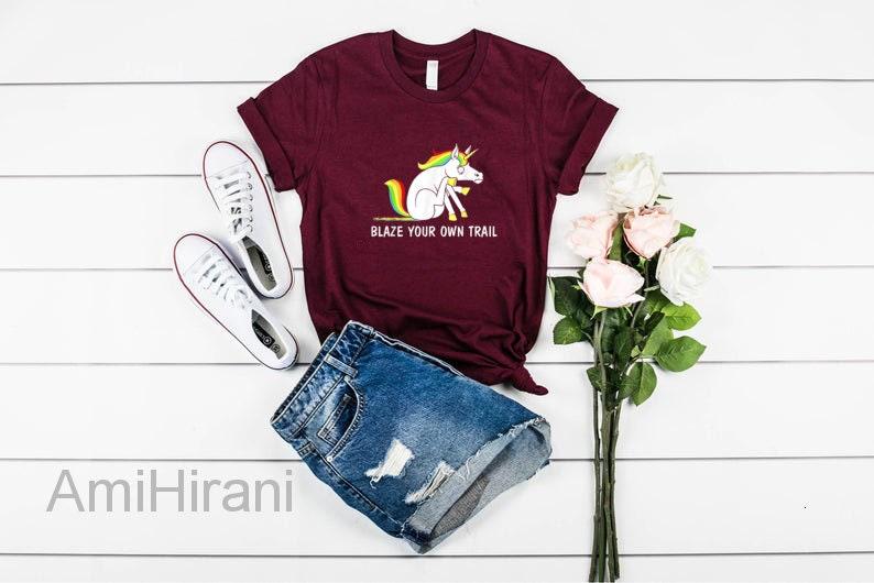 Blaze Your Own Trail Unicorn T-Shirt