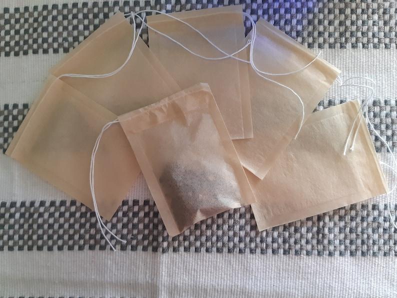 EmptyTea Paper bag. Drawstring. Tea Infuser Bag. Pouch for image 0